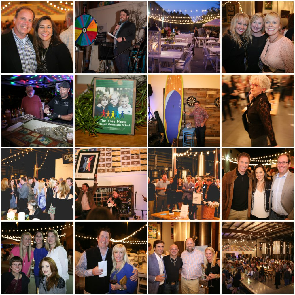 collage of artful night for church